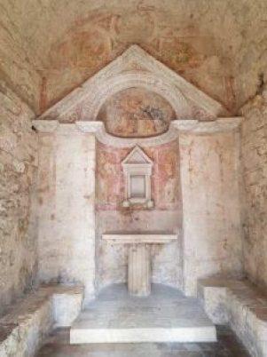 L'abside del sacello del Tempietto
