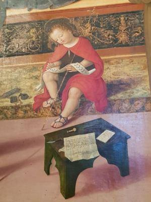 Pinturicchio, Madonna col Bambino, Spello - dettaglio