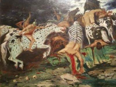 Giorgio De Chirico, Lotta di centauri - dettaglio