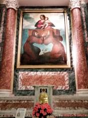 Apparizione della Madonna Odigitria, Bernardo Strozzi, San Maurizio di monti.