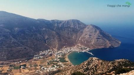 Kamares, sifnos vista dall'alto di Agios Simeon.