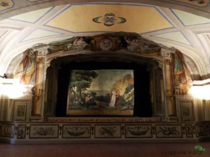Il teatro della Villa Poggio a Caiano, una delle ville medicee da visitare.
