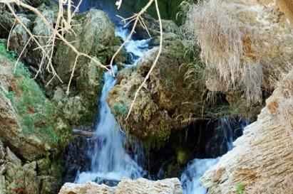 Dettaglio delle cascate di Kravice in Bosnia.