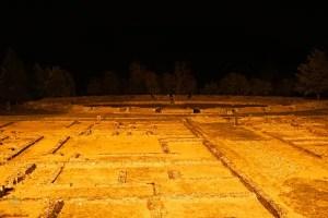 L'antica città di libarna a Gavi, di notte è molto affascinante.