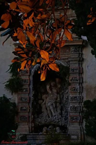 Giardini di Palazzo Lomellino, Genova. Fotografia per la copertina dei dipinti autunnali