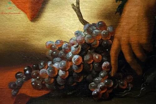 Domenico Piola, olio su tela, dettaglio uva dipinti autunnali