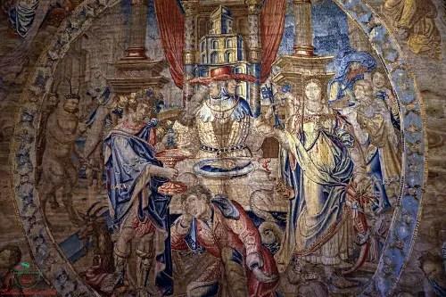 Arazzo di Gennaio, Villa del Principe, Genova dipinti autunnali