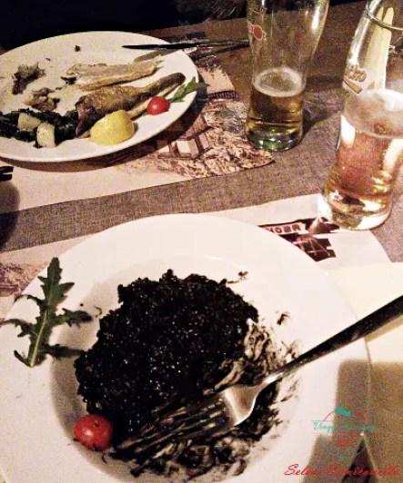 risotto al nero di seppia cosa mangiare a kotor