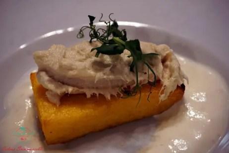 baccalà mantecato al ristorante shalai di genova