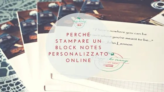 perché stampare un block notes personalizzato online. copertina blog post.