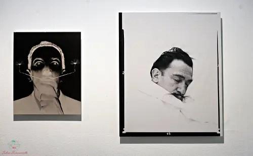 a figueres nel teatro museo dalì si possono vedere le foto delle Varianti dei baffi di Salvador Dalì.
