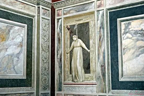 Rappresentazione della Disperazione, Cappella degli Scrovegni.
