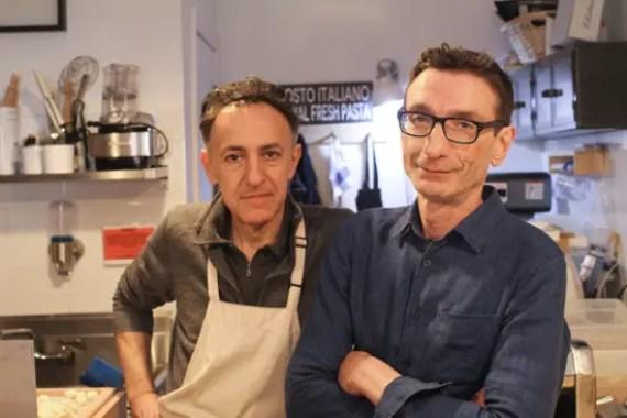 Antonio Capone e Davide Rubini, i proprietari di Un posto italiano, un ristorante italiano a Brooklyn. © Christopher Lehnert