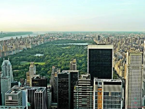 tra le foto più belle scattate in viaggio c'è quella di Central park visto dal Top Of The Rock.