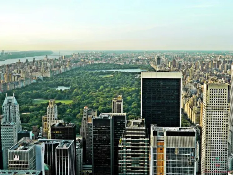 tra le foto più belle scattate in viaggio c'è quella di Central park visto dal Top Of The Rock.