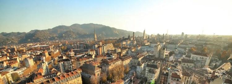 Panorama di Torino dalla Mongolfiera. © Soluzioni Artistiche, Turin Eye.