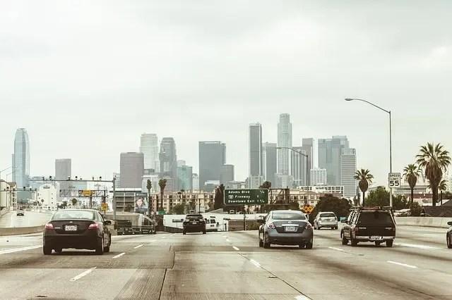 visitare los angeles: il traffico della città.