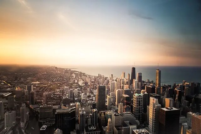Chicago dall'alto.