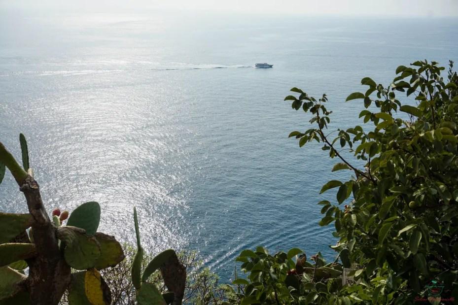 Panorama sul mare da Corniglia.