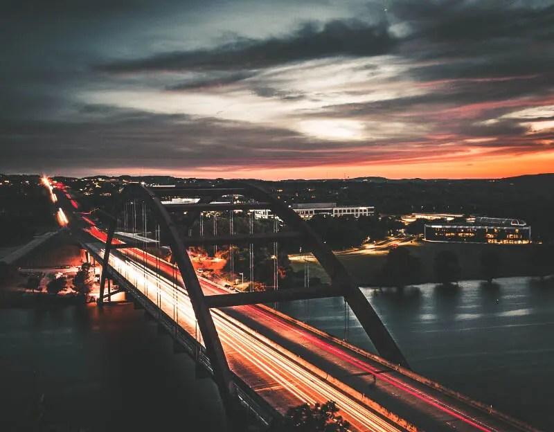 Pennybacker Jr. Bridge, Austin, Texas.