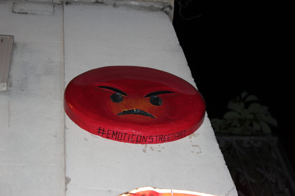 Emoticons Street Art al Pigneto
