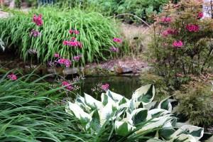 il giardino acquatico a Blenheim