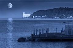 Miramare Castle on a Full Moon Night