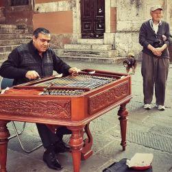 Cammino su Corso Vannucci e incontro loro. La magia di un'artista, la bellezza di un cane, l'infinita dolcezza di un anziano. Piccoli attimi che restano eterni.