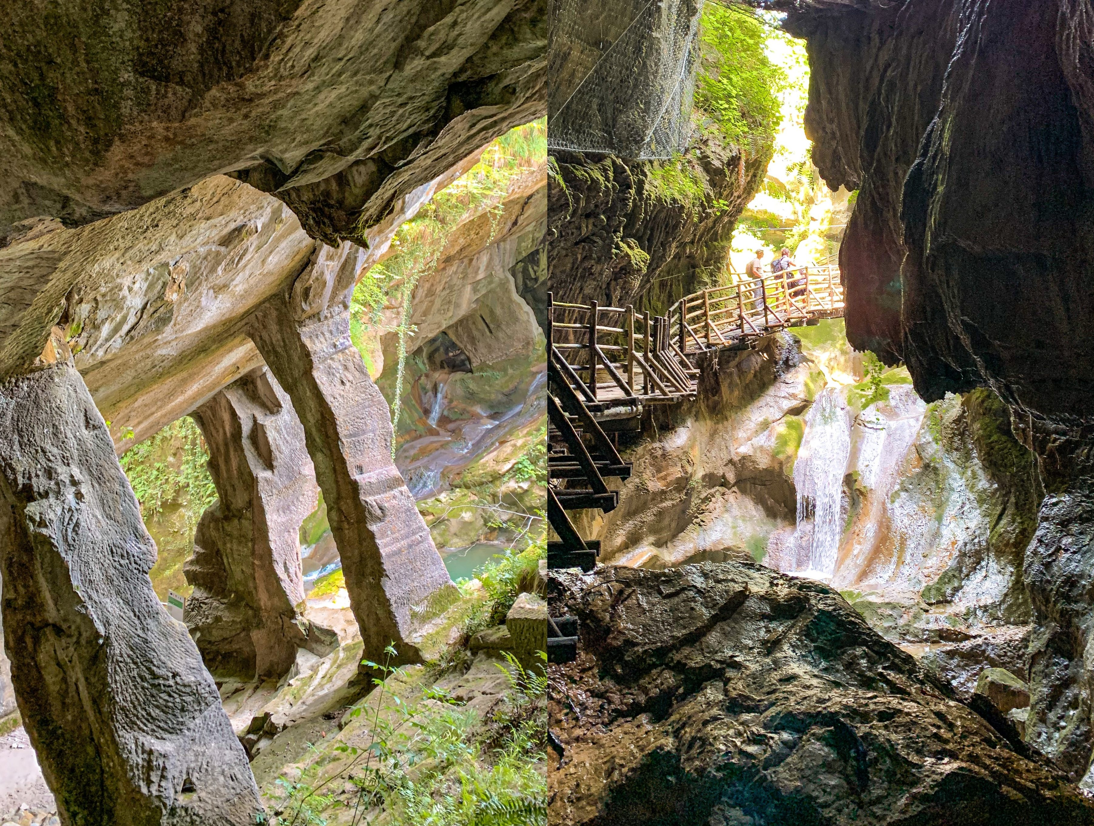 Grotte del Caglieron: un canyon, cascate e corsi d'acqua