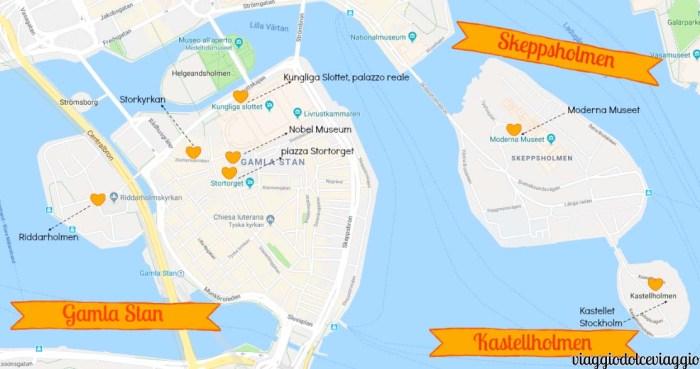 gamlastan skeppsholmen kastellholmenStoccolma Stockholm map