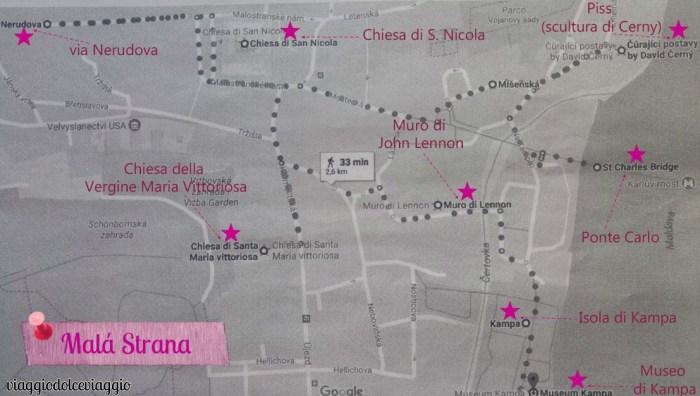 itinerario-mala-strana praga map