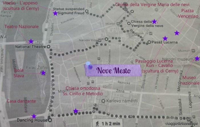 itinerario-nove-mesto praga map