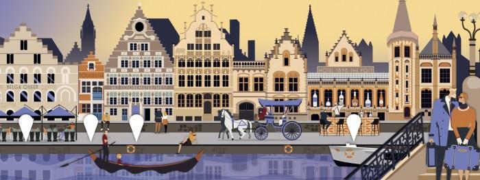 Gandmap Gand Belgio
