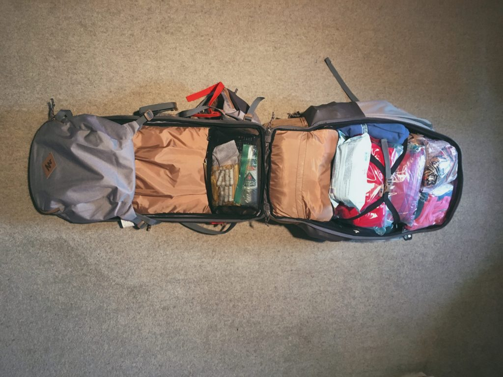Zaino da backpacking apribile