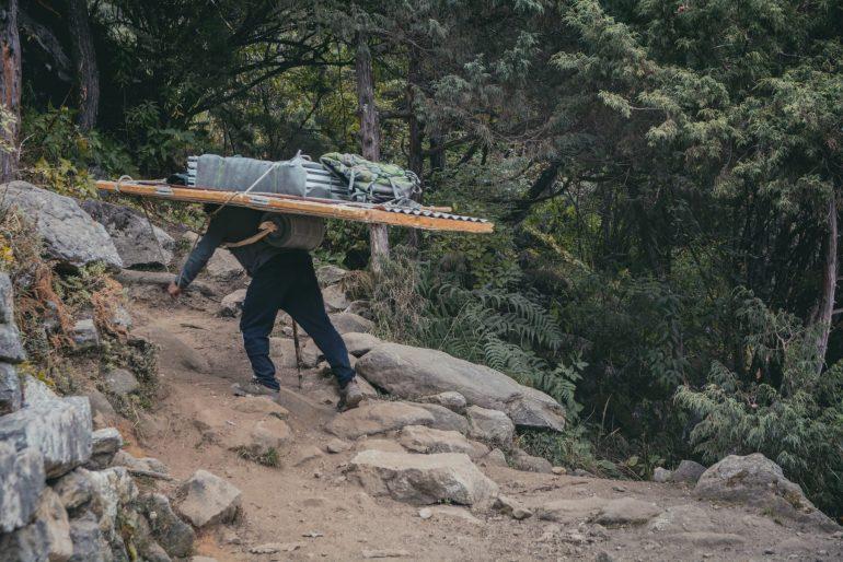 Everest base camp senza porter