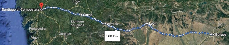 Cammino di Santiago francese - Mappa da Burgos
