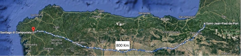 Cammino di Santiago francese - Mappa da Saint Jean Pied de Port