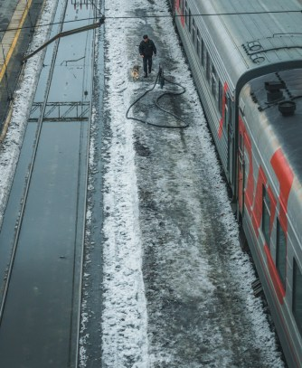 Stazione russa transiberiana