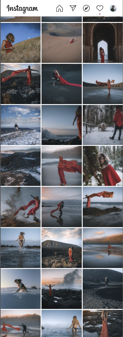 Uniformità del profilo Instagram