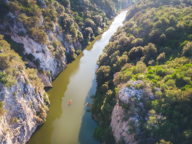 drone kayak fiume cedrino