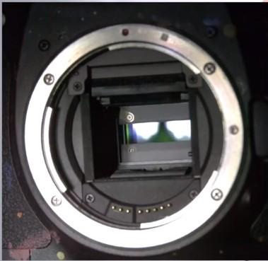 fessura otturatore macchina fotografica
