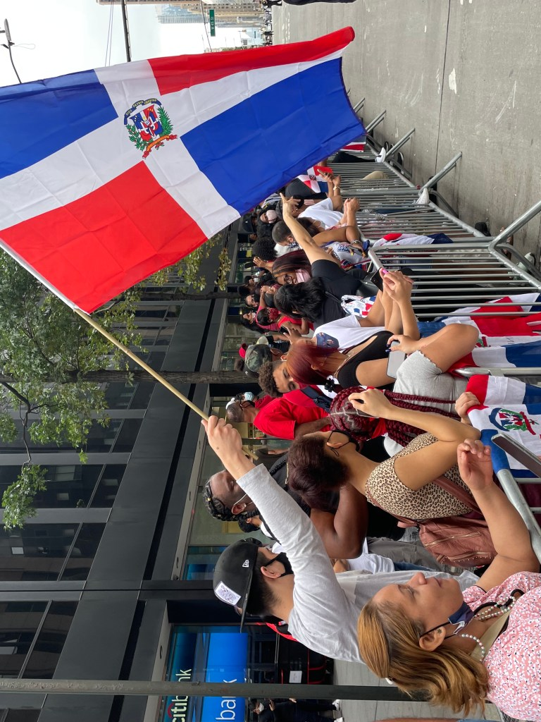 crowds in the parade
