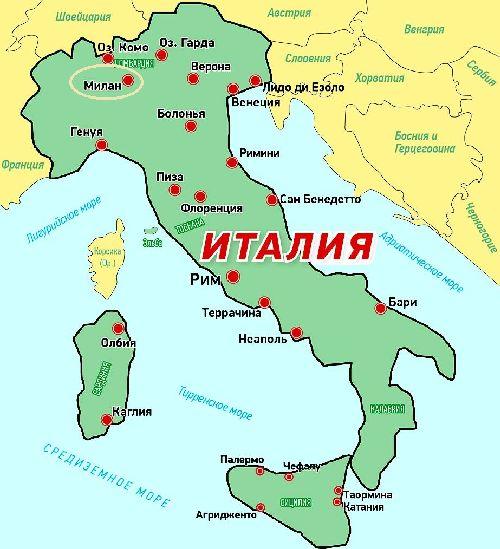 Milanos Karta Over Italien Kartor Over Milano Milano Pa En
