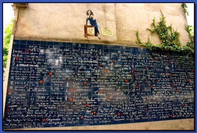 Vacanze a Parigi-mure de Je t'aime