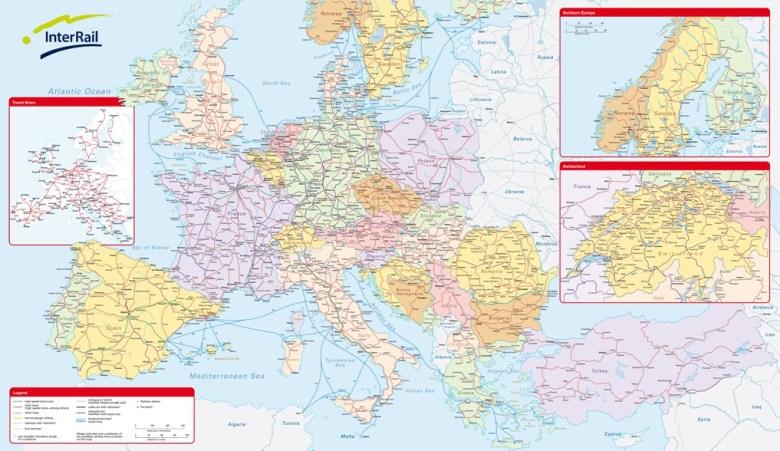 Viaggio in Europa in interrail