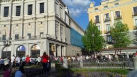 Semana Santa 2014, Plaza de Oriente, hacia Plaza de Ópera.