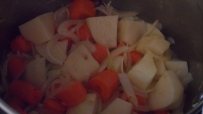 Crema de calabaza, zanahorias y naranja