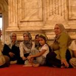 Mujeres egipcias en la mezquita