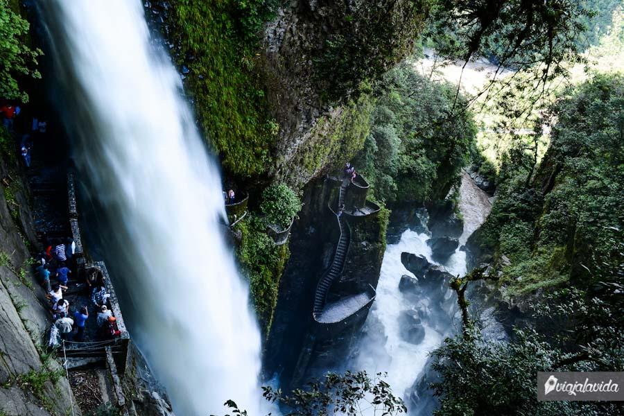 Una de las cascadas más grandes