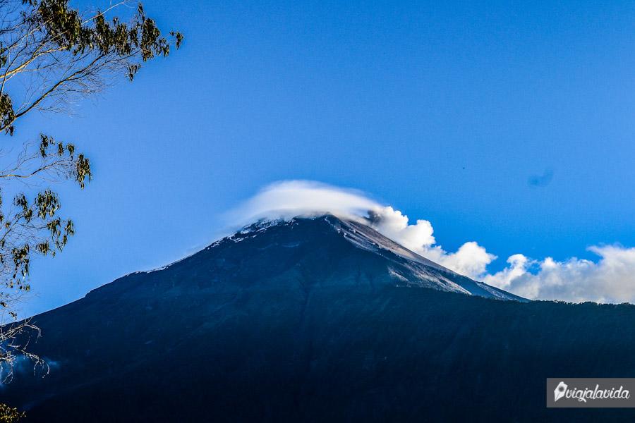 Volcán despejado